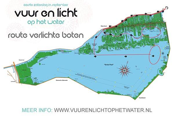 Route verlichte botenshow - Vuur en Licht op het Water